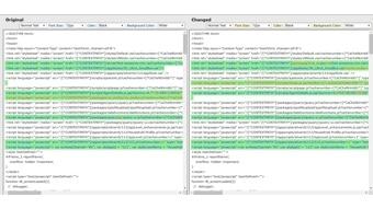 Application Screen Logs - Comparison Original vs Changed