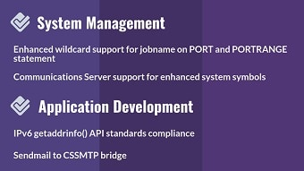 Systems management and application development (V2R3)