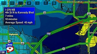 Display the average speed time on your traffic forecast.