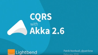 How to use CQRS in Akka 2.6