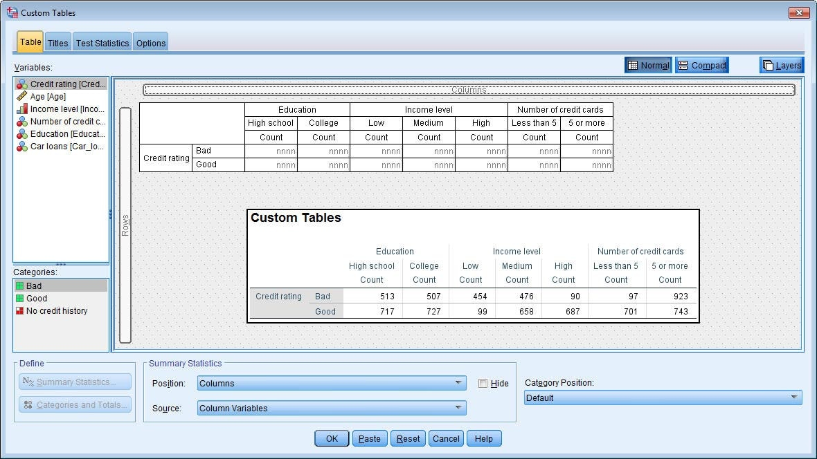IBM SPSS Custom Tables - Overview - United States