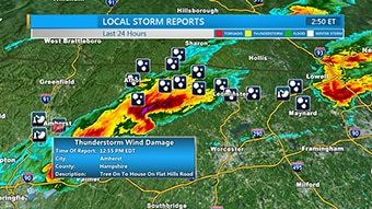 Severe weather coverage with Max Storm.