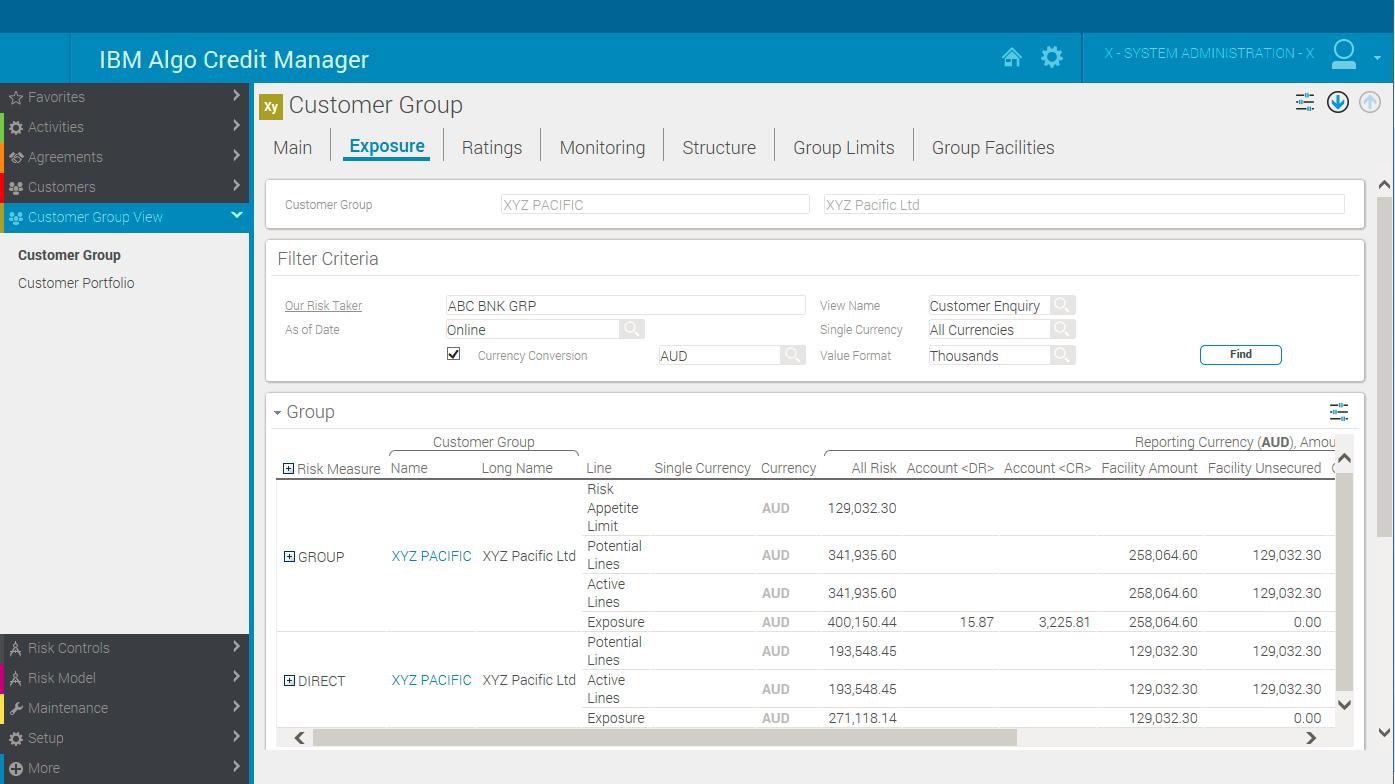 IBM Algo Credit Manager - Details - United States
