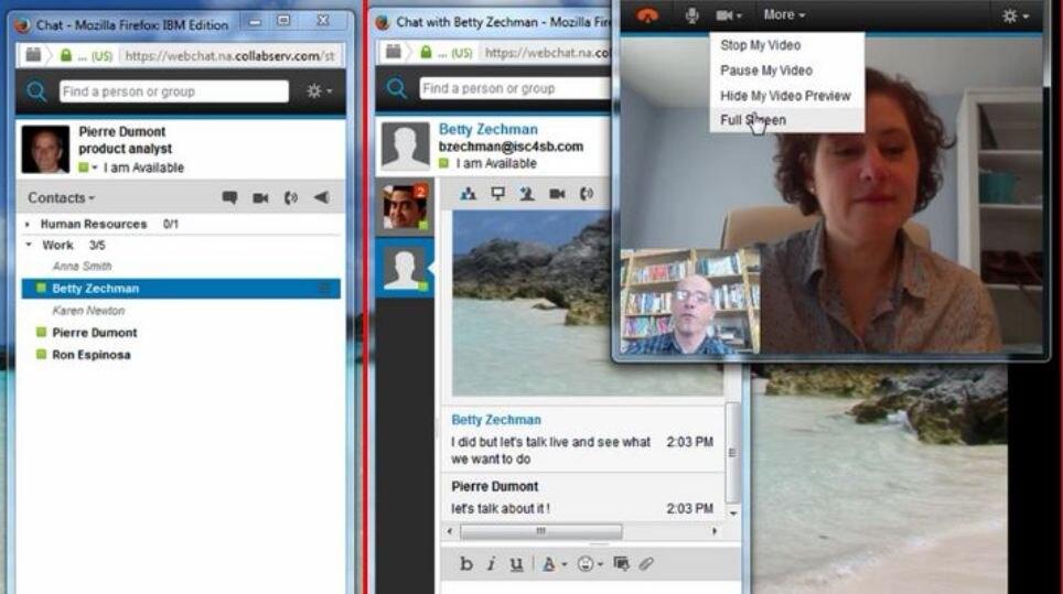 Réunions Web, mobilité et discussion