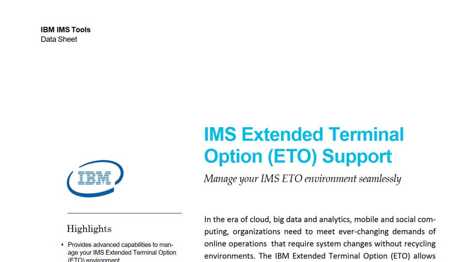 IMS Extended Terminal Option Support for z/OS