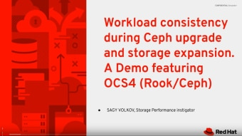 0:04 / 19:38 All Things Data: Workload consistency during Ceph updates & adding new storage devices