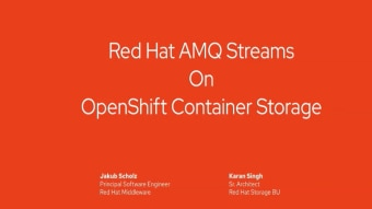 All Things Data: AMQ Streams using OpenShift Container Storage