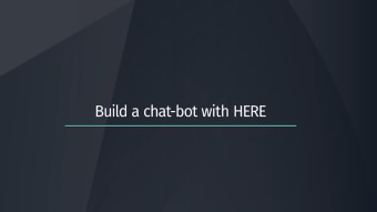 Build a chatbot with HERE