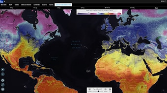 Access the most recently reported temperatures around the world