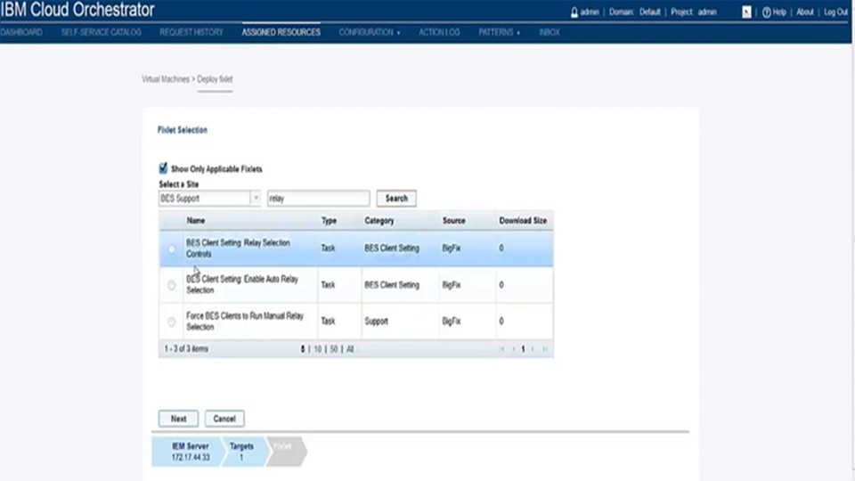 IBM Cloud Orchestrator Content Pack for IBM Endpoint Manager