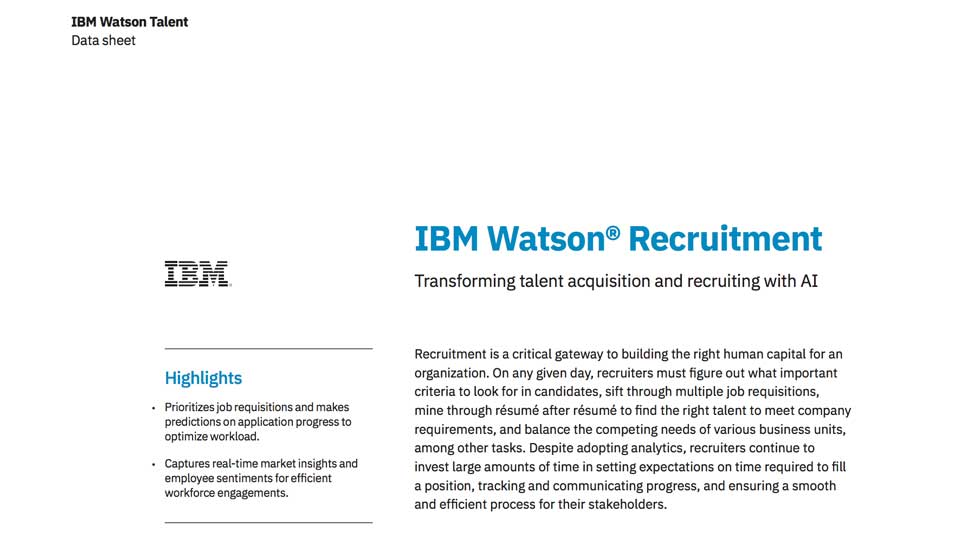 IBM Watson Recruitment