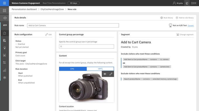 Create custom rules to deliver the right content to the right customer