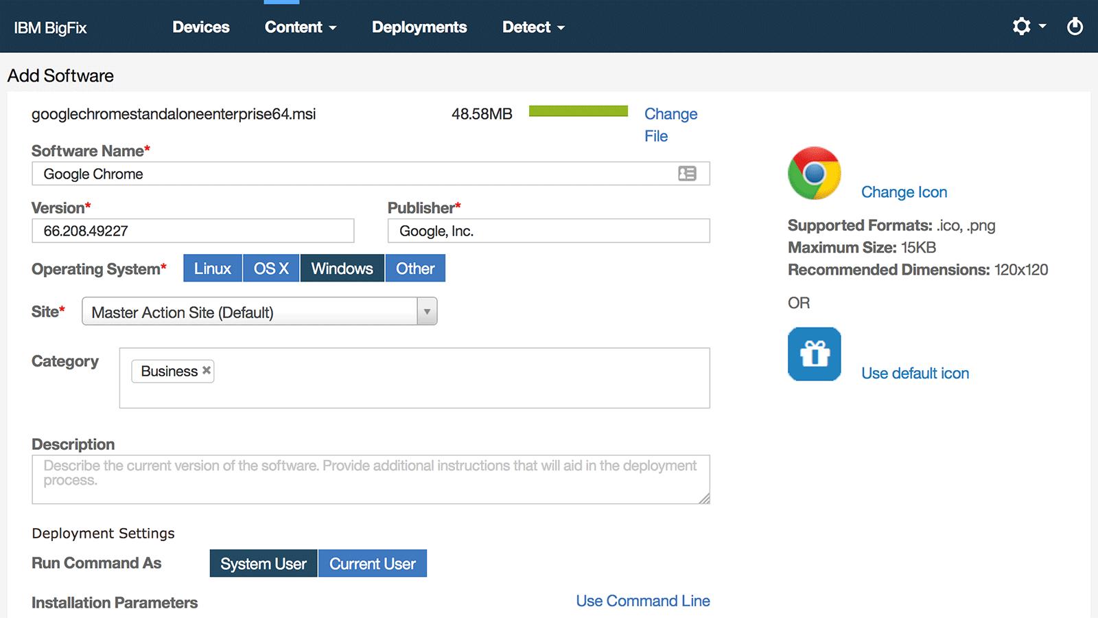 Erstellung eines neuen Softwarepakets