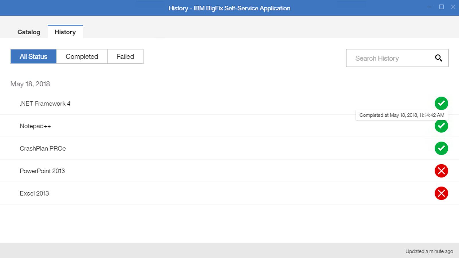 Self-Service-Anwendung – Administratoraktionen