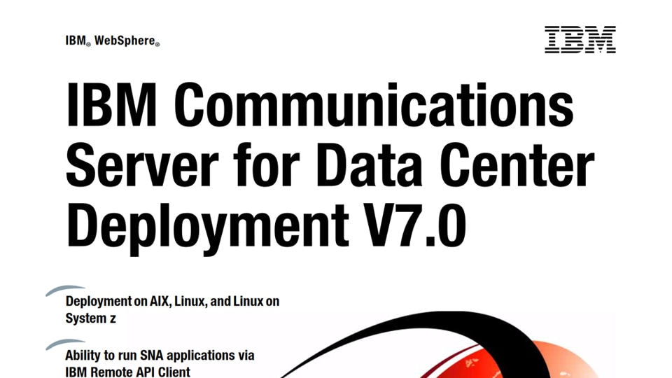IBM Communications Server for Data Center Deployment