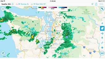 High-resolution past-to-future radar with superior storm tracking