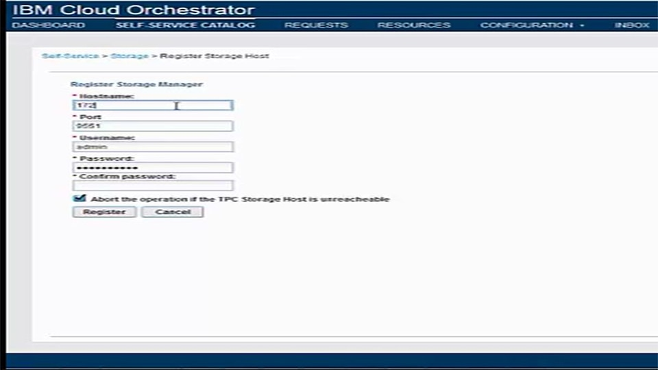 IBM Cloud Orchestrator Content Pack for Tivoli Productivity Center For NAS