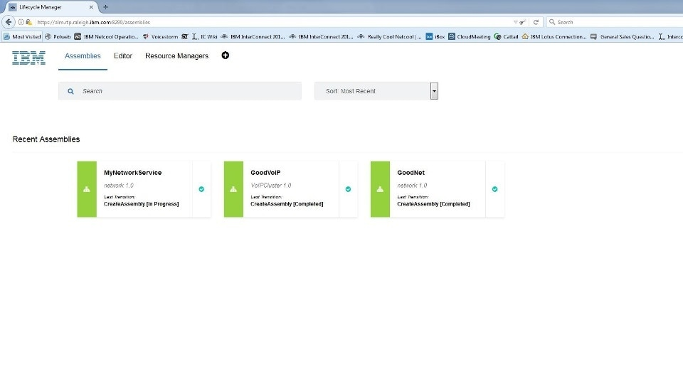 Service Assembly overview - See what ALM is managing