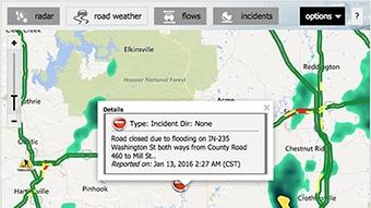 Traffic web widget using Max Web.