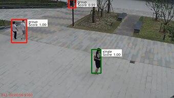 Monitor distances between people