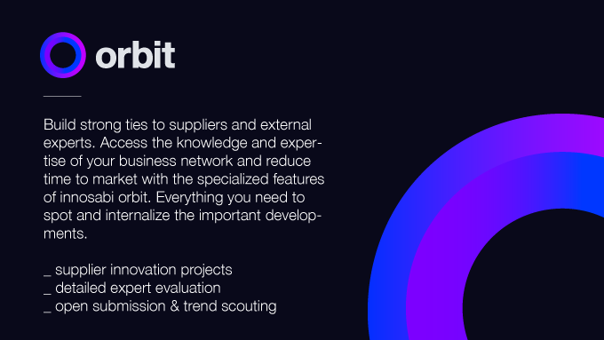 innosabi orbit – build strong ties with your suppliers